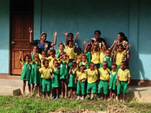 Students and Teachers at Marthen Luther Pre-school in Yenbeser, Raja Ampat