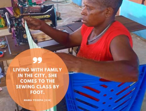 Sewing class for Asmat-mothers: meet mama Yosefa