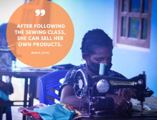 Sewing class for Asmat-mothers: meet Maria