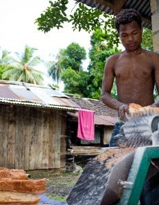 Small sago project in Papua