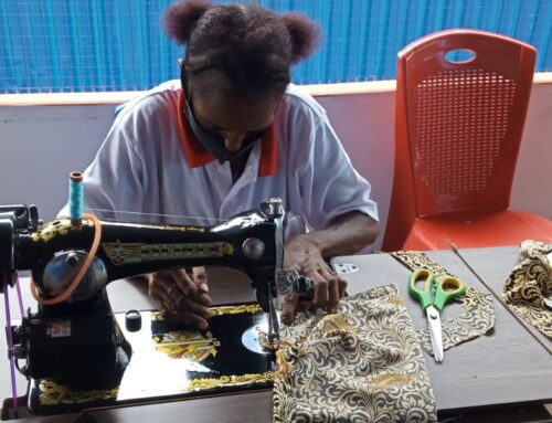 Sewing class for Asmat mothers