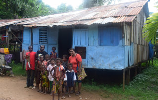 Hapin director Cyntia Warwe visiting the Kokoda's in Klawasi (Sorong)