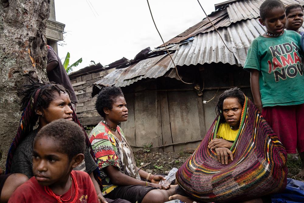 Refugees seeking shelter in Wamena