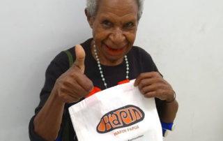 Ribka Walilo participant and pinang seller Papua